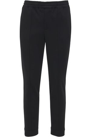 Neil Barrett Slim Viscose Blend Pants W/back Zip Cuff