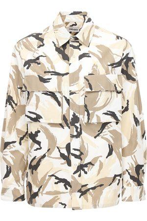 Kenzo Camo Printed Cotton Ripstop Shirt