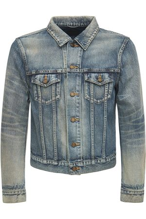 Saint Laurent Miehet Farkkutakit - Fitted Denim Cotton Jacket