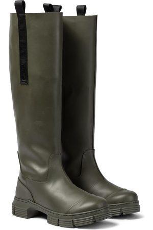 Ganni Knee-high rubber boots