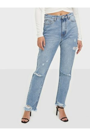 Missguided Naiset Skinny - Highwaisted Straight Tight Jeans