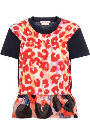 Marni Naiset T-paidat - Leopard-print peplum T-shirt