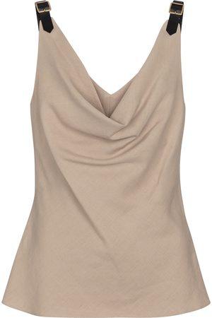 Altuzarra Naiset Hihattomat - Zaria linen-blend camisole