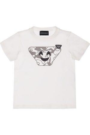 Emporio Armani Printed Cotton Jersey T-shirt