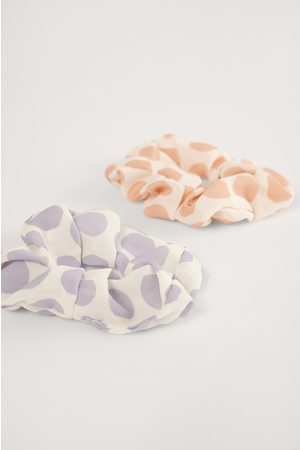 NA-KD 2-Pack Dotted Scrunchies - Multicolor