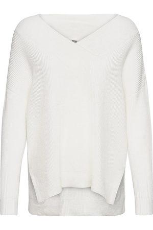 Culture Naiset Neulepaidat - Cuolivia V-Neck Pullover Neulepaita Valkoinen
