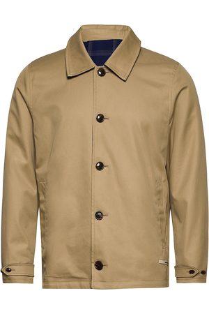 Scotch&Soda Clean Reversible Organic Cotton Coach Jacket Trenssi Takki Beige