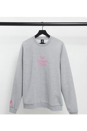 New Balance Romantic choice' sweatshirt in grey and pink - exclusive to ASOS