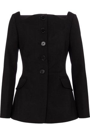 Carolina Herrera Square-neck wool-blend blazer