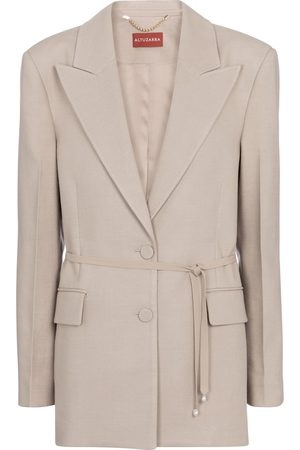Altuzarra Arbor belted linen-blend blazer