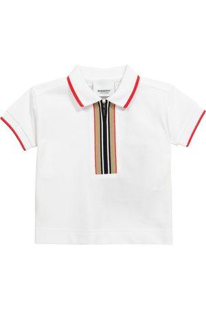Burberry Kids Pikee - Baby Icon Stripe cotton piqué polo shirt