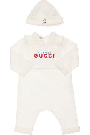 Gucci Cotton Jersey Romper, Bib & Hat