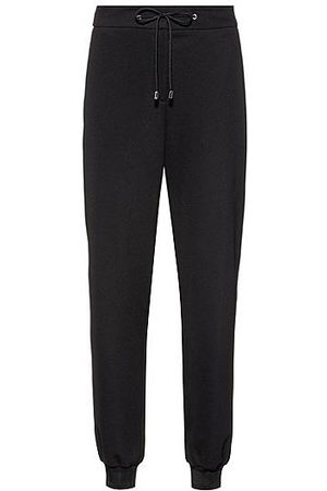 HUGO BOSS Naiset Stretch - Stretch-fabric tracksuit bottoms with logo cuffs