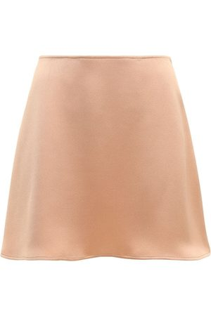 The Andamane Giada Envers Satin Mini Skirt