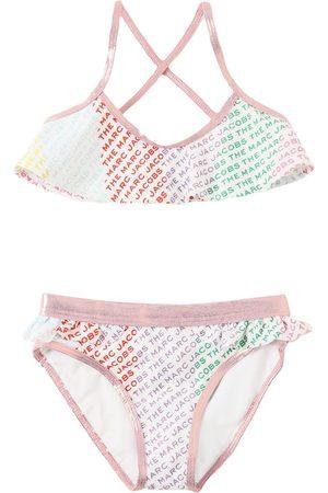 LITTLE MARC JACOBS All Over Logo Print Bikini Set