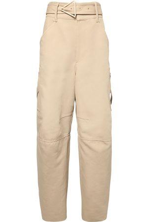 Bottega Veneta Naiset Housut - Belted Double Cotton Canvas Pants