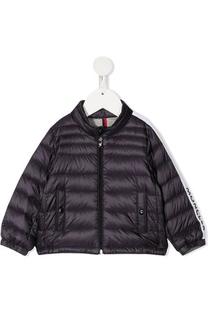 Moncler Enfant Logo-trim padded jacket
