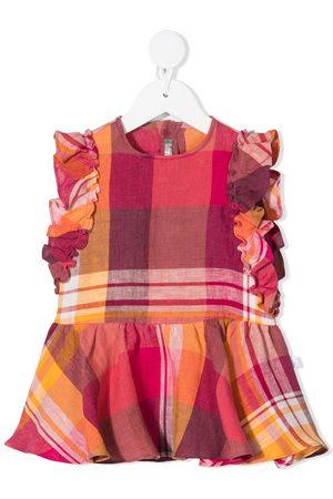 Il gufo Vauvat Rennot Mekot - Checked ruffle trim dress