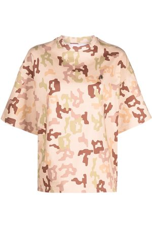 The Attico Naiset T-paidat - Camouflage-print cotton t-shirt