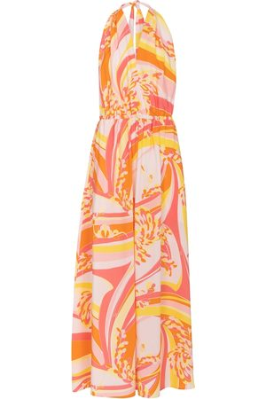 Emilio Pucci Printed halterneck maxi dress