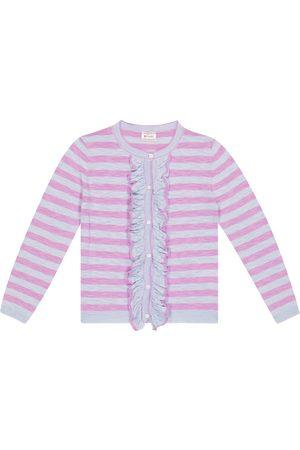 MORLEY Nacho striped cotton-blend cardigan