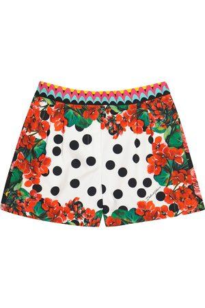 Dolce & Gabbana Printed cotton poplin shorts