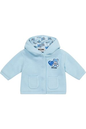 Moschino Baby hooded cotton cardigan