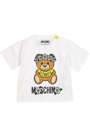 Moschino Baby logo stretch-cotton T-shirt