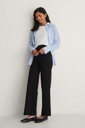 NA-KD Naiset Collegehousut - Leveät Jerseyhousut - Black