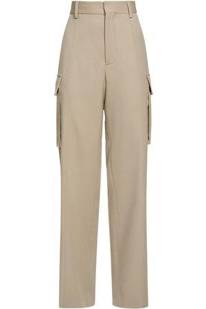 adidas High Waist Wool Wide Leg Pants