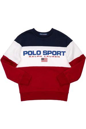 Ralph Lauren Pojat Collegepaidat - Logo Print Cotton Sweatshirt