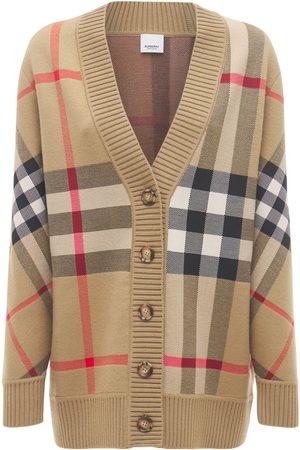 Burberry Naiset Neuletakit - Caragh Wool Blend Check Cardigan