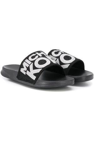Michael Kors Tohvelit - Embellished logo slippers
