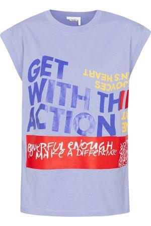 Chloé Printed cotton-jersey T-shirt