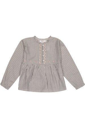 BONPOINT Sheila striped cotton-blend blouse
