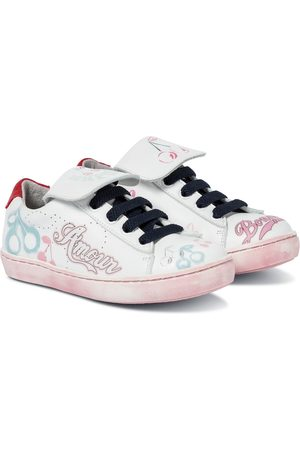 BONPOINT Printed leather sneakers