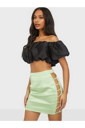 Missguided Naiset Minihameet - Button Down Side Mini Skirt Sage