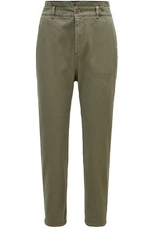 HUGO BOSS Cropped chinos in stretch cotton