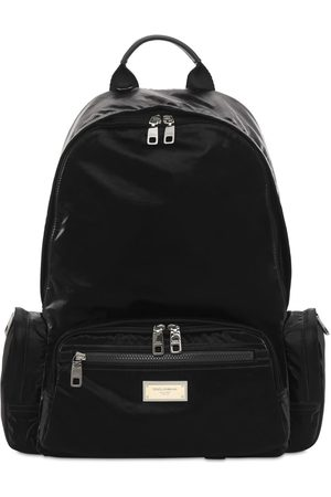 Dolce & Gabbana Logo Plaque Nylon Backpack