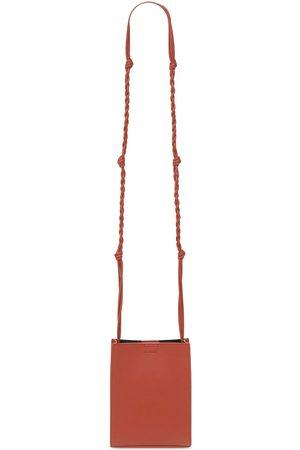 Jil Sander Small Tangle Leather Shoulder Bag