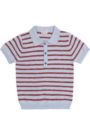 MORLEY Nick striped cotton-blend polo shirt