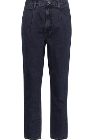 J Brand Pleated Peg high-rise tapered jeans