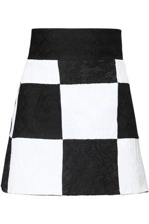 Dolce & Gabbana Naiset Minihameet - Brocade Jacquard Patchwork Mini Skirt
