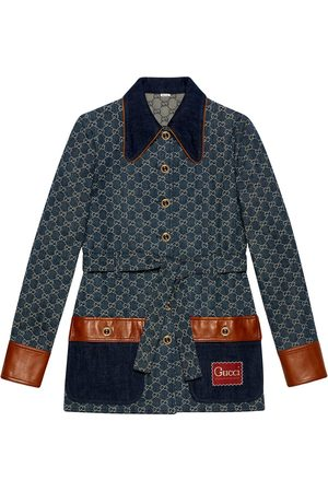Gucci GG pattern denim jacket
