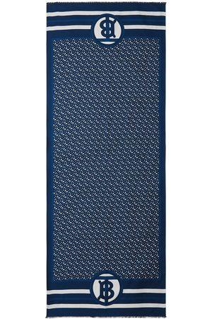 Burberry Huivit - Reversible monogram-print scarf
