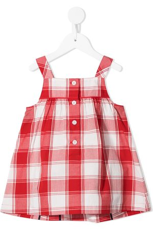 Familiar Sleeveless cotton checked dress