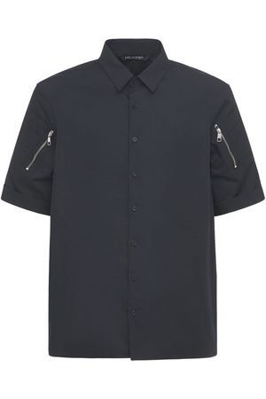 Neil Barrett Loose Cotton Shirt W/ Zip Pockets