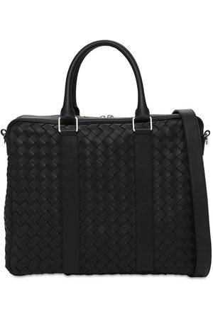 Bottega Veneta Hydrology Intreccio Leather Briefcase