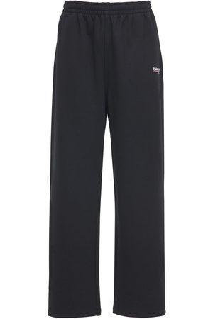Balenciaga Political Logo Cotton Jersey Sweatpants