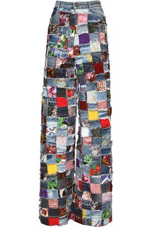 Dolce & Gabbana Naiset Farkut - Allover Jacquard & Patchwork Denim Jeans